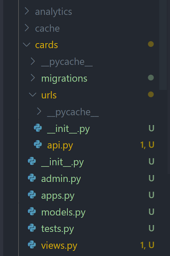 Cards app structure