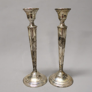 Cartier Sterling Silver Candlestick Pair