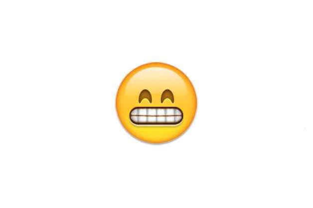 Biểu tượng cảm xúc Facebook Emoticon Emoji Cười trừ
