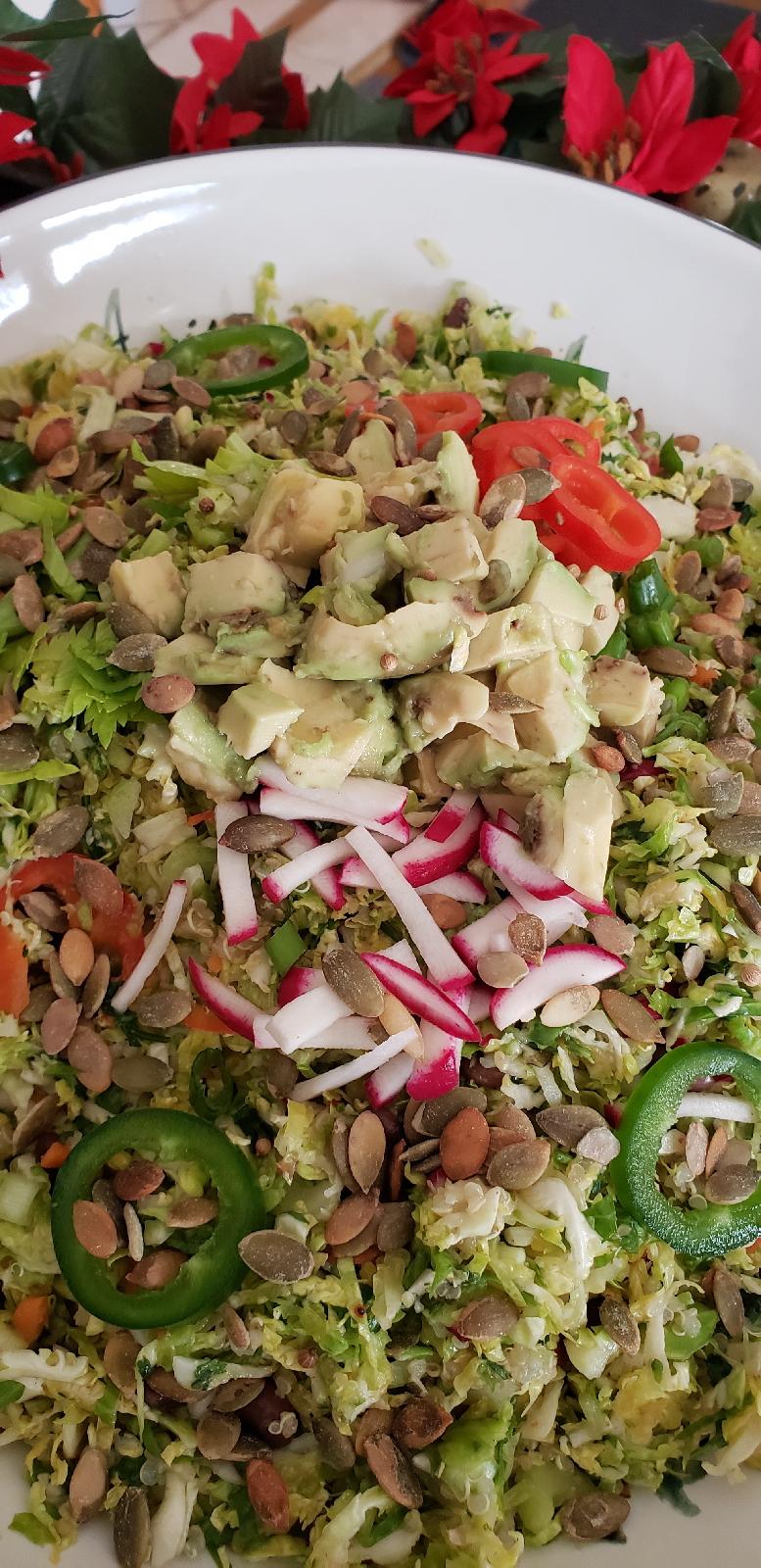 vegan, vegetarian, gluten free, recipe, holiday food, potluck, salad, meal prep, lunch