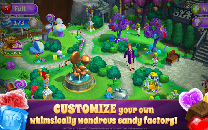Willy Wonka's Sweet Adventure –A Match 3 Game v1.1.784 [Mod]