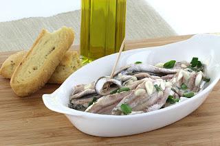 Γαύρος Μαρινάτος,Marinated anchovies.