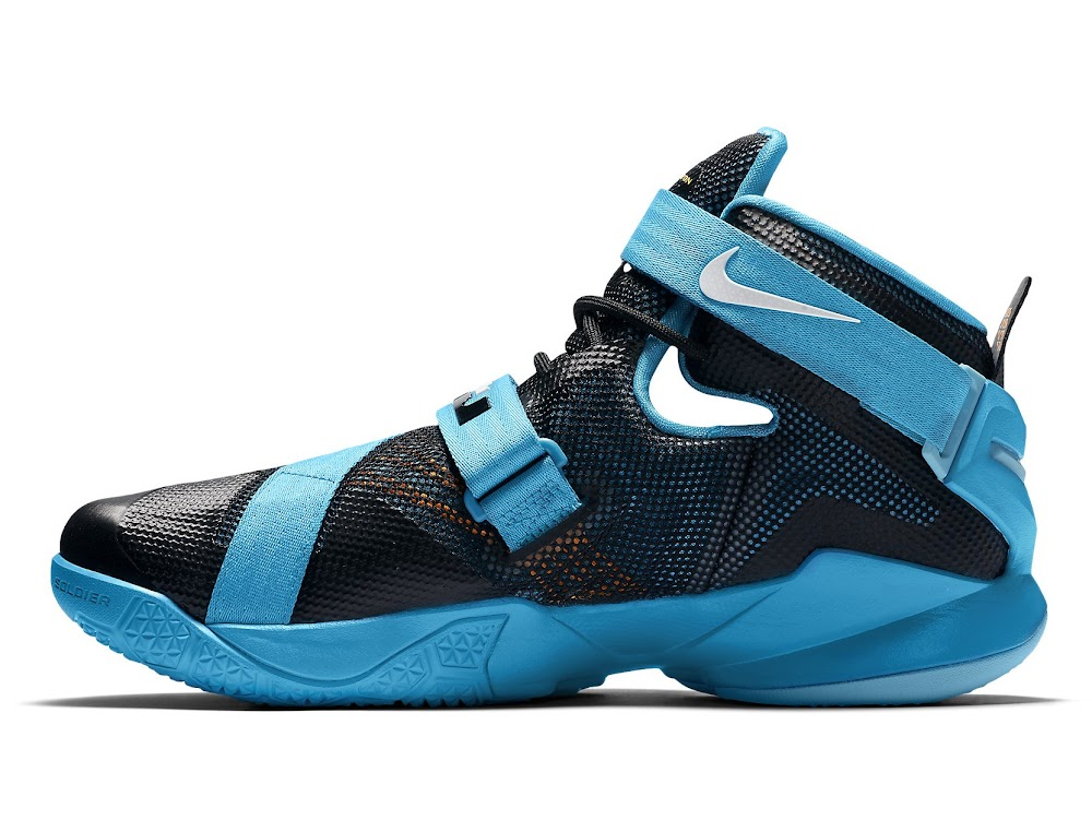finest selection 61f3b 3670c ... LeBron 13 Shares its Blue Lagoon Style with the Nike Soldier IX ...