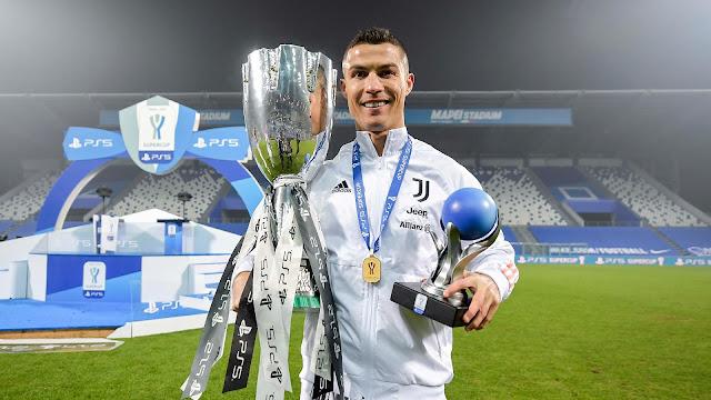 Ronaldo Bantu Kemenangan Piala Super kesembilan Juventus, Jaring Gol ke 760!