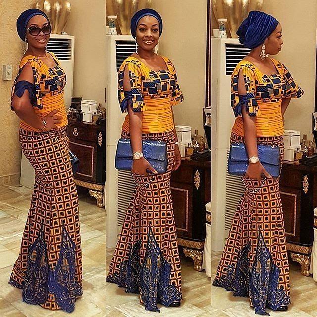 Skirt and Blouse ~ mishono ya vitenge nigeria - Styles 2d