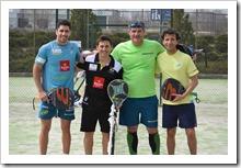Máxi Sánchez, Matías Díaz, Roberto Fresnedoso y Luis Milla