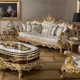 Sofa Ruang Tamu Classic Golden