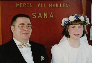 Photo: 19930619 Asko, Sanna - Laivalla