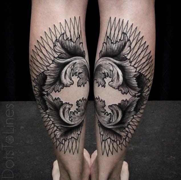 conectando-se_leafwork_bezerro_de_tatuagens