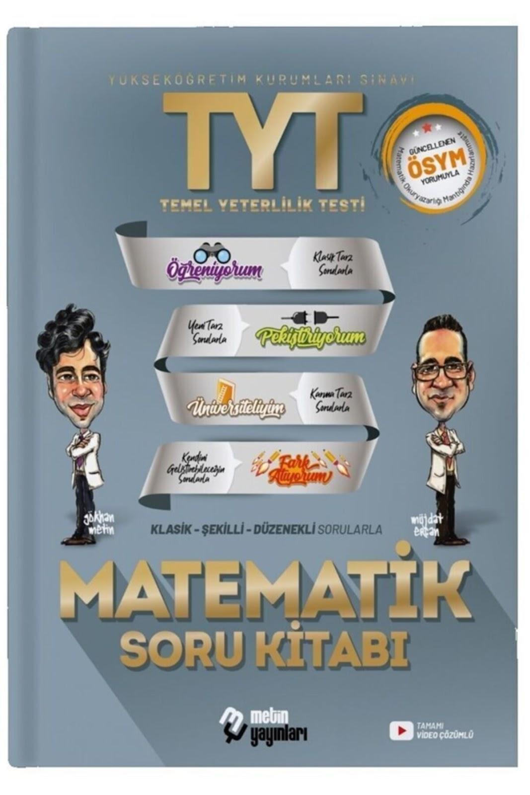 Metin Yayınları - TYT Matematik - Problemler Soru Bankası
