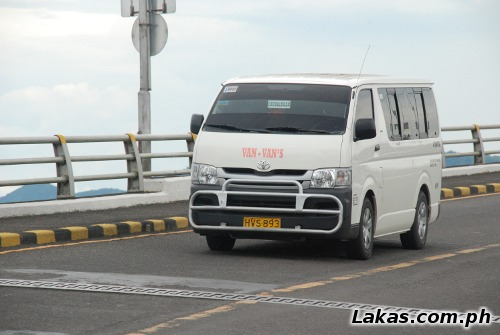 Van going to Catbalogan, Samar