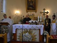 Mons.Szakál László esperes Mgr.Szalay Gyula esperes Bc.László Gábor poplgármester Zirik Kristóf diakónus.JPG