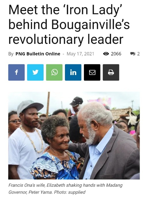 Meet the 'Iron Lady' behind Bougainville's revolutionary leader