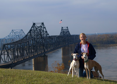 Morgan, Deana and Spirit at the Mississippi River 2009