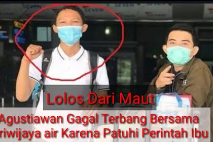 Kisah Agustiawan Lolos dari Maut Sriwijaya Air Jatuh Berkat Patuhi Perintah Ibu