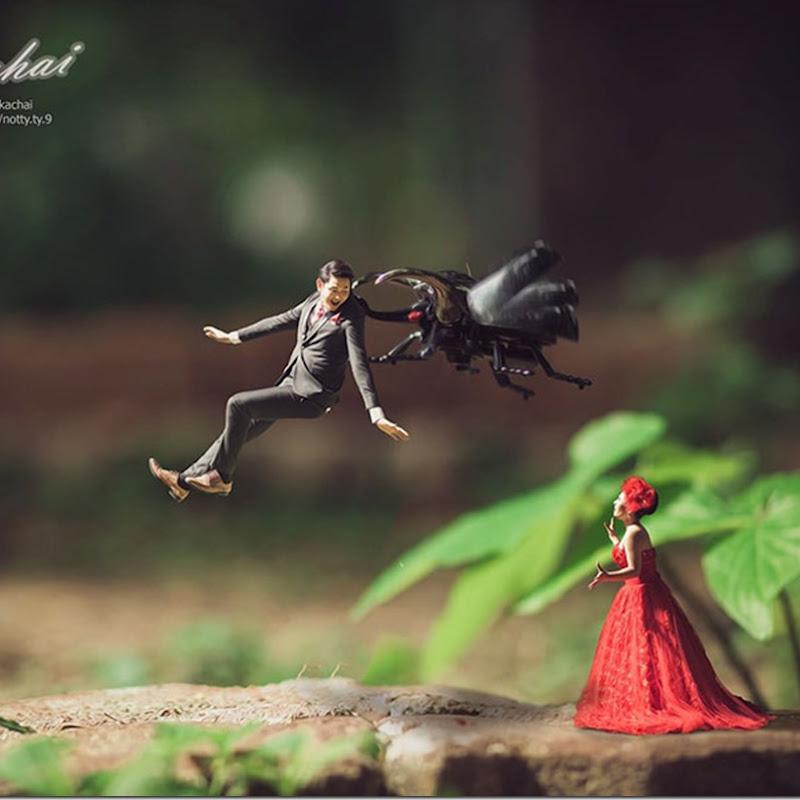 Gambar Pengantin Bersaiz Serangga Memberi Impak Yang Unik Dalam Dunia Fotografi