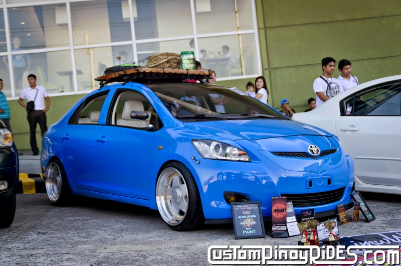 Down-to-Earth Stanced Blue Toyota Vios Custom Pinoy Rides Car Photography Manila Philippines pic1