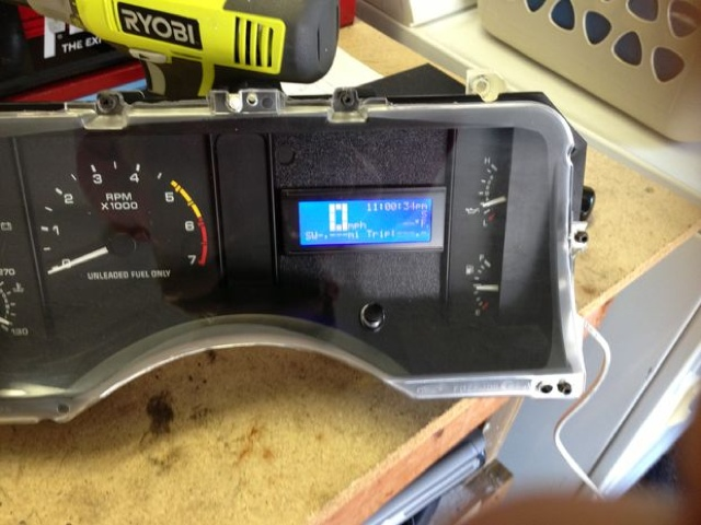 Arduino ford mustang speedometer projects