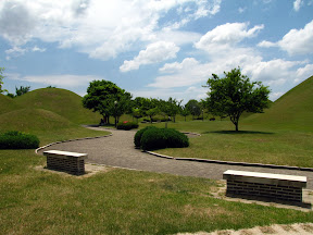 This is outside Gyeongju,  the old capital of the Silla Kingdom. The Silla had a thing for burying important people under huge mounds. I don't get it.
