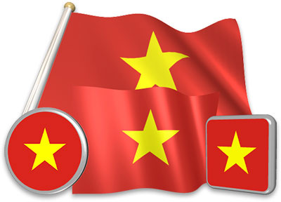 Vietnamese flag animated gif collection