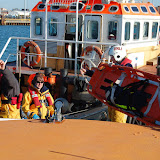 A stretcher is transferred from the ALB to the tug - Training exercise, 19 February 2012
