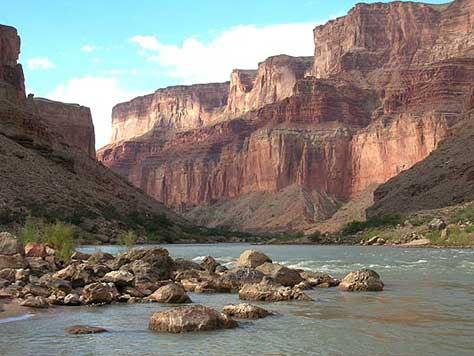 Cañón del Colorado, vista del río
