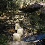 Crossing above Piles Creek waterfall (179352)