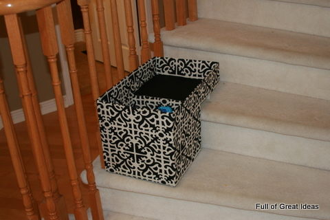 Marvelous Stair Basket On My $0 Budget   Organizing My Life One Step At A Time