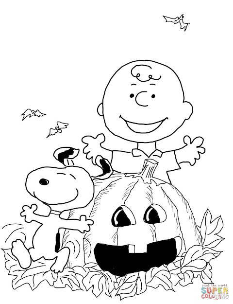 Click The Charlie Brown Halloween Coloring Pages