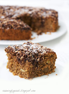 banana cake slice Banana Cake . . . TWO WAYS!!!