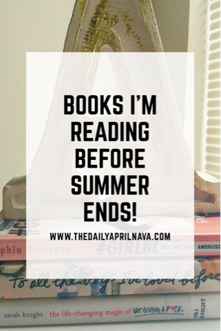 top mom mommy blogger atlanta georgia books reading summer reading list #girlboss to all the boys i've loved before self help young adult