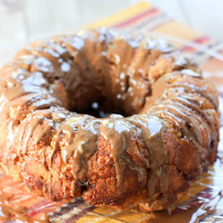 Banana Monkey Bread with Peanut Butter Sauce