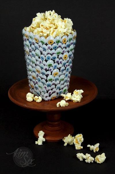 Googly Eye Popcorn box halloween