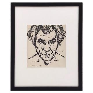 Patrick Stigliani Signed Ink Portrait Drawing