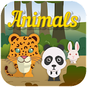 Kids memory game: Animals