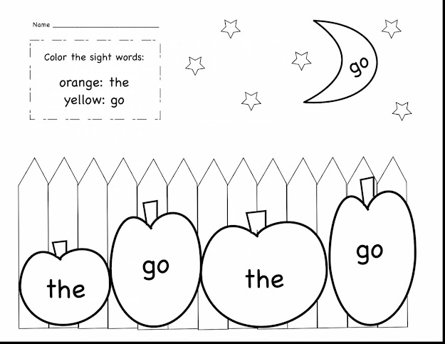Spectacular Kindergarten Sight Word Coloring Sheets With Word Coloring Pages  And Word Coloring Pages
