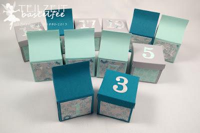 Stampin' Up! - Adventskalender, advent calendar, designer series papier, Designerpapier, Sizzlits Junior Alphabet, christmas, Weihnachten