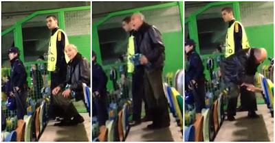 Adepto sportinguista sozinho festeja golo do Sporting ao Maribor