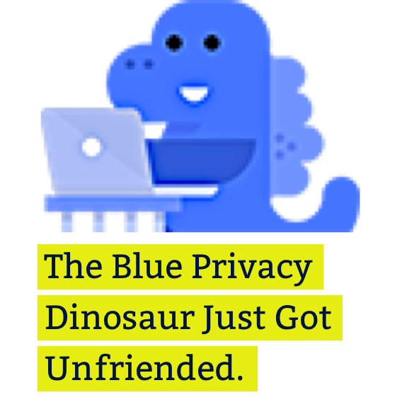 Blue Privacy Dinosaur