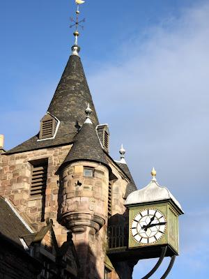 Clock in Edinburgh
