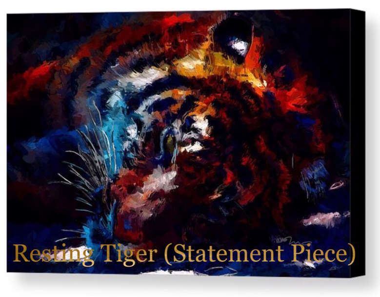 Resting Tiger Art Mark Taylor