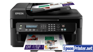 How to reset flashing lights for Epson WorkForce WF-2538 printer
