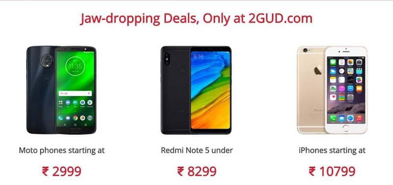 2GUD Website - Now Buy Refurbished Products in Cheap Price