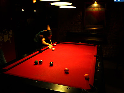 Pool table at Mate bar in Tel Aviv Israel
