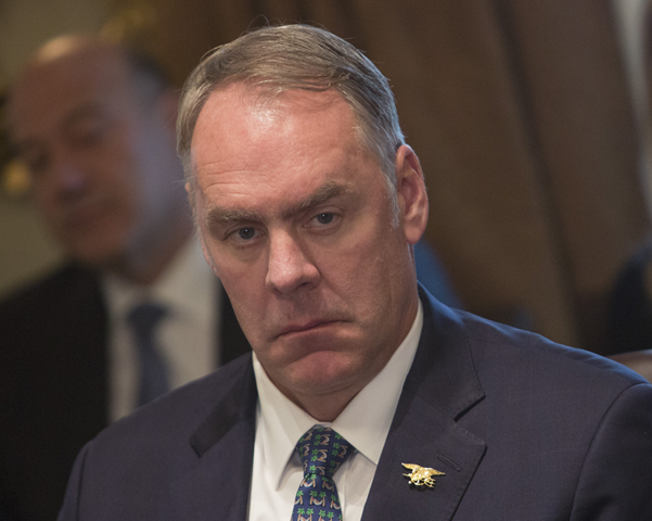 Interior Secretary Ryan Zinke. Under the plan announced by Interior Secretary Ryan Zinke, the government would issue the largest number of oil-lease sales in U.S. history starting late in 2019. Photo: Chris Kleponis / Zuma Press