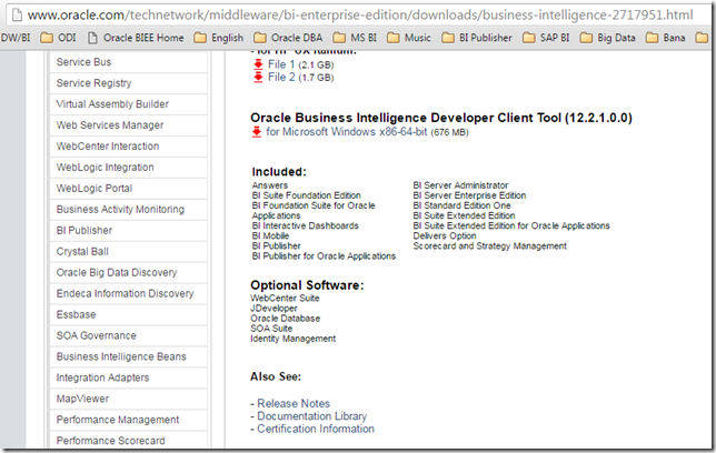 How to install Oracle BI Administrator 12c (12 2 1 0 0) on