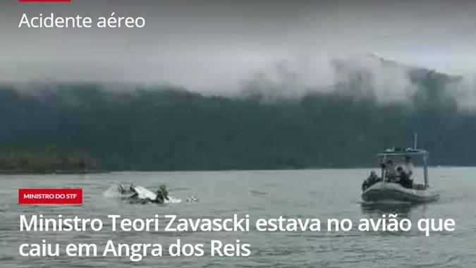 TEO RI ZAVASCKI MORRE EM ACIDENTE