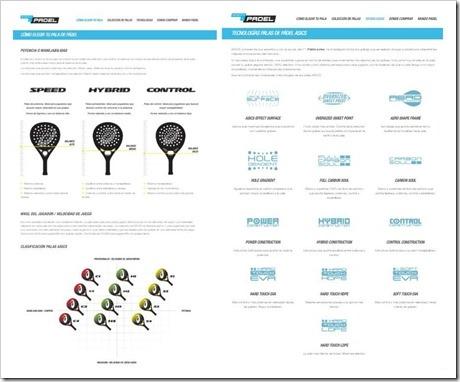 En www.reinventaelpadel.com se recoge también la información de las tecnologías aplicadas a las palas de ASICS