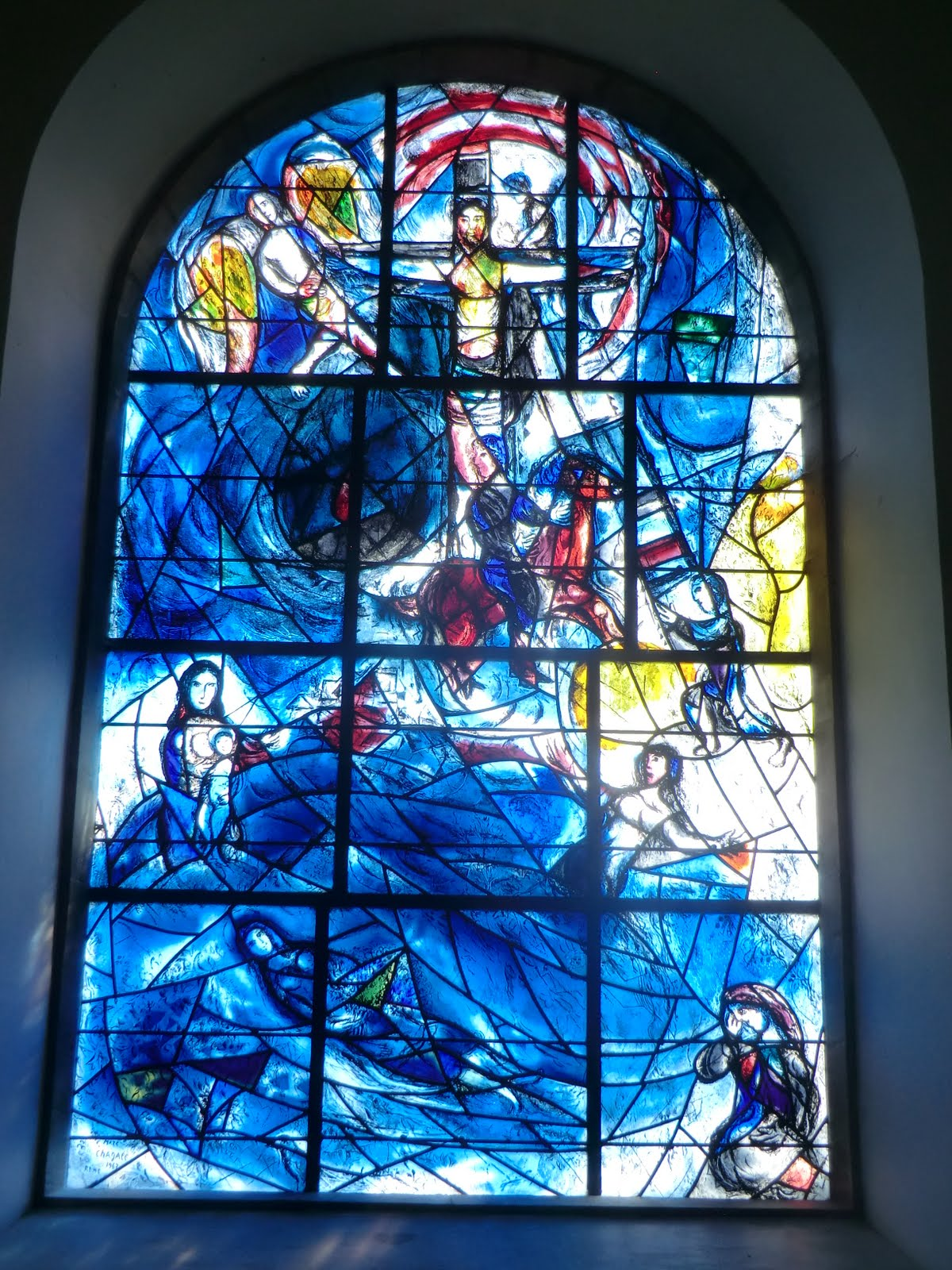 CIMG1554 Chagall window #8 (memorial window), All Saints church