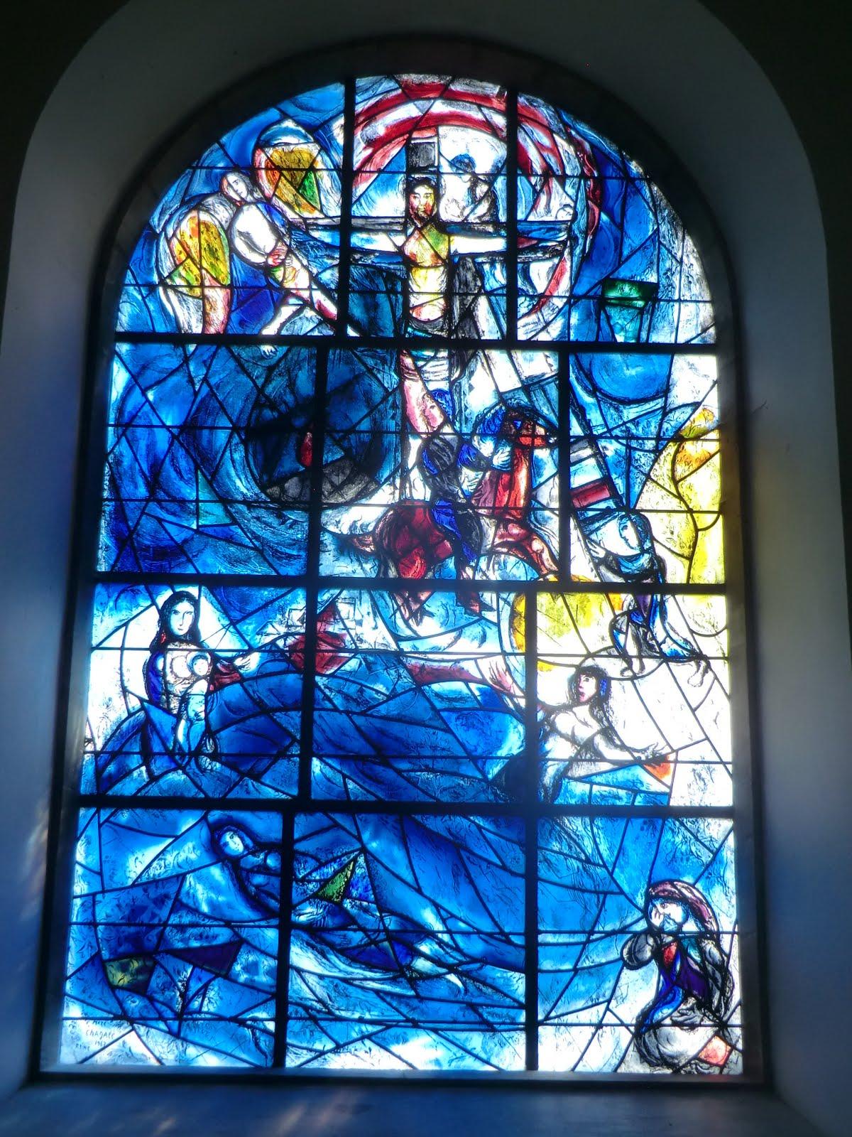CIMG1554 Chagall window #8 (memorial window), All Saints church
